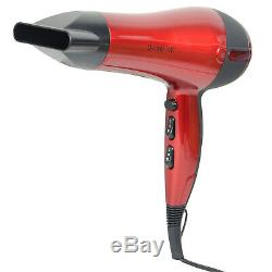 2200w Professional Style Hair Dryer With Nozzle Concentrator Heat Hairdryer Red