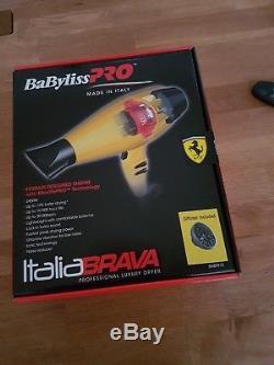 BaByliss PRO Italia Brava BABFB1E Professional Hair Dryer Ferrari Engine GENUINE