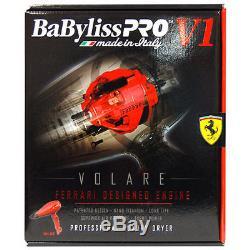 BaByliss PRO V1 Volare 2000 Watt Professional Full Size Hair Dryer, Red BABFRV1
