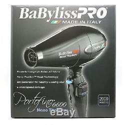 BaByliss Pro Nano Titanium Black Portofino Dryer #BNT6610