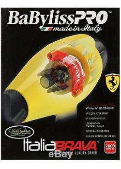 Babfb1 Babyliss Pro Italia Brava Dryer With Ferrari Designed Engine Yellow
