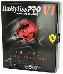 Babfv1 Babyliss Pro Volare V1 Full-size Dryer Ferrari-designed Engine Black