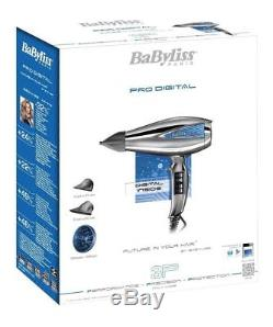 Babyliss 6000E Le Pro Digital Professional Hair Dryer 2200W Silver GENUINE NEW