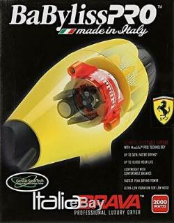 Babyliss Pro Italia Brava Salon Hair Dryer 2000W Ferrari Engine #BFB1