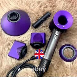 Black/Purple Dyson Supersonic Hairdryer HD03 Brand New & Sealed Box UK Stock