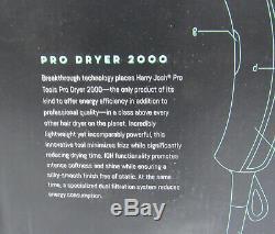 Brand NEW Sealed Harry Josh Pro Tools Pro 2000 3-Piece Ceramic Hair Dryer