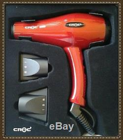 Croc Turboion Hybrid Professional Lightweight Ionic Ceramic Hair Dryer red