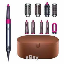 DYSON Air Wrap complete hair styler hair dryer straight curls FUSHIA was £449