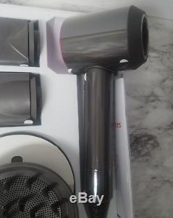 DYSON SUPERSONIC HAIR DRYER (Iron/Fuchsia) PLUS 3 Attachments/Mat