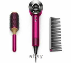 DYSON Supersonic Gift Edition Hair Dryer with Brush & Comb Fuchsia & Nickel