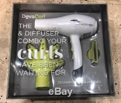 DevaCurl DevaDryer with DevaFuser Dryer + Diffuser + Nozzle Combo Retail Set