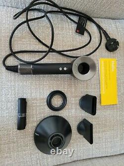 Dyson Supersonic Hair Dryer Black & Nickel / HD03 / UK / 1600W