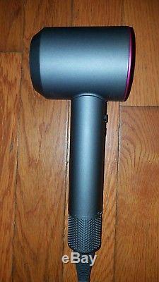 Dyson Supersonic Hair Dryer Iron/Fuchsia Presentation Case, (2) Attachments