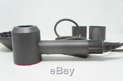 Dyson Supersonic Hair Dryer Iron Silver/Fuchsia WithO RETAIL BOX (H-43)