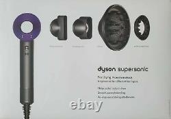 Dyson Supersonic Hair Dryer Nickel/Purple 3rd Generation HD03