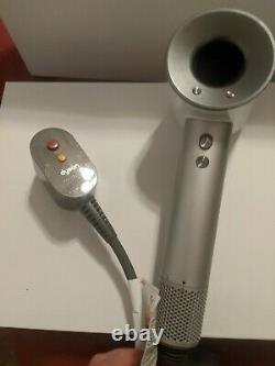 Dyson Supersonic Hair Dryer Silver/White Used HD01 Dryer only Free Shipping