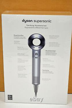 Dyson Supersonic Hair Dryer White/Silver HD01 withAttachments Free US Shipping
