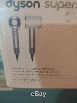 Dyson Supersonic Hair Dryer White Silver Salon Pro Blow Dryer
