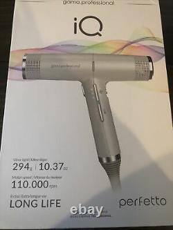 GAMA Italy Professional IQ Perfetto Hair Blow Dryer NEW