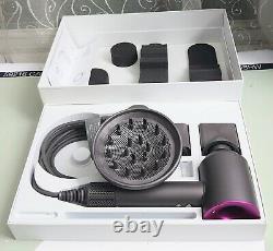Genuine Dyson Supersonic Hair Dryer Pink & Grey HD01 Iron & Fuschia 306405-13-02