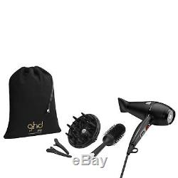 Ghd Air Hair Dryer Kit Clips Diffuser Size 3 Ceramic Styler Brush Bag Gift Set