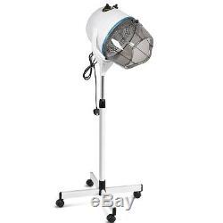Hair Dryer Professional Salon Hood Stand Portable Hairdresser Floor White