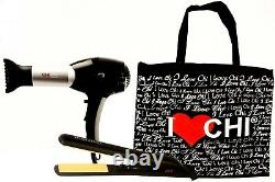 I Love Chi Forever Pro Low Emf Blow Dryer 1 Hair Straightener Flat Iron + Bag