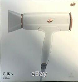 NEW T3 Cura IonAir Ionic Hair Dryer in White & Rose Gold 76820