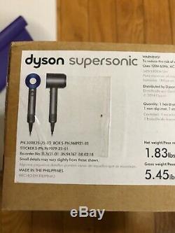 New Dyson Supersonic Hair Dryer HD01 AQUIS Travel Bag TowelIron Blue SET GIFT