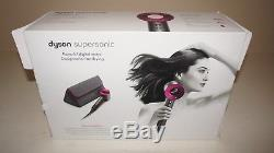 New Dyson Supersonic Hair Dryer in Iron/Fuchsia with Complimentary Travel Bag