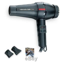 New Turbo Power Twin Turbo 2600 Equipped with two nozzles Hair Blow Dryer