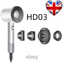Original Dyson Supersonic Hair Dryer HD03 Brand New Sealed Box (White/Silver)