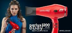 Parlux 3200 Plus Turbo Hair Dryer Pink includes 2 nozzles + Free Brush NEW MODEL