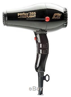 Parlux 385 Professional BLACK Hair Dryer Powerlight Ceramic Ionic- Black New