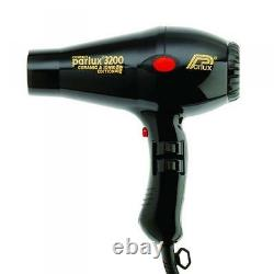 Parlux Compact 3200 Turbo Hair Dryer Ceramic & Ionic Black includes 2 nozzles