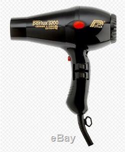 Parlux Milano 3800 Eco Friendly Professional Hair Dryer Black Swivel Cord
