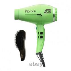 Parlux New Alyon Hairdryer in Green + free Yogi detangle brush