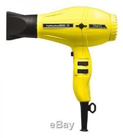 Pibbs 3900 Twin Turbo Ceramic Ionic 2200 watt Hair Dryer #333A (Yellow)