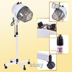 Professional Salon Hair Dryer Hood Floor Stand Portable Hairdresser Hairdryer