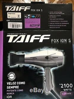 Professional hair blow dryer TAIFF FOX ION S DIAMANTE 2100 WATTS