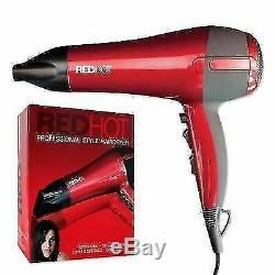 RedHot 2200W Professional Style Hairdryer 3 Heat 2 Speed Settings Hair Dryer NEW