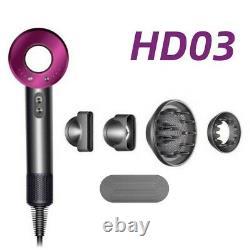 Sealed Box Original Dyson Supersonic Hair Dryer HD03 Iron/Fuchsia UK Plug