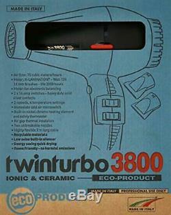 Secador Profesional De Cabello Twin Turbo Con Silenciador Integrado Y Ajustes