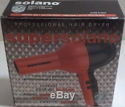 Solano Super Turbo Dries Hair Up To 35 Percent Faster Color Red & Black 1875 W