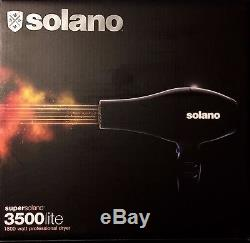 Super Solano 3500 Lite 1800w Pro Dryer Upc, 032552035001 2 Year Warranty Italy