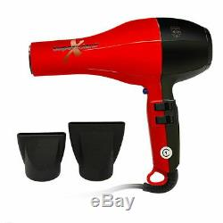 Super Solano Extreme Professional Italian Salon Hair Dryer 232X Red & Black