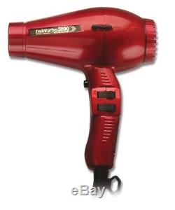Turbo Power 3800 Twin Turbo Ceramic Ionic 2100 watt Hair Dryer #330A (Red)