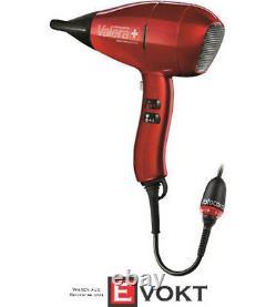 VALERA Swiss Nano 9400 Ionic Rotocord, Hair Dryer, 2400 Watt, Red / Black