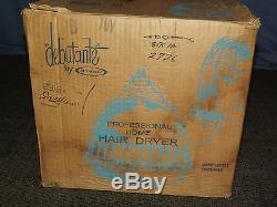 Vintage 1960s Blue Rival Debutante Professional Model 70 Home Hair Dryer In Box